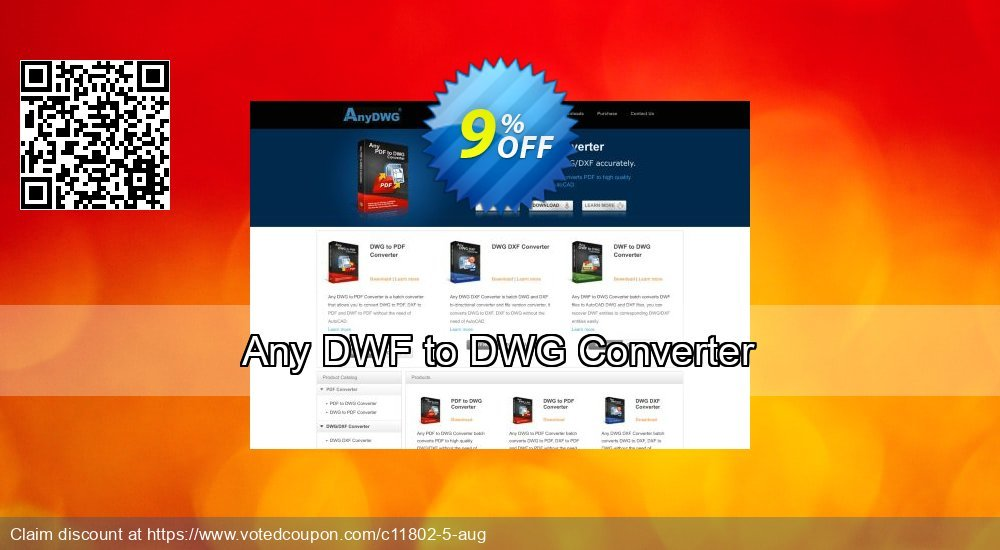 Get 9% OFF Any DWF to DWG Converter offer