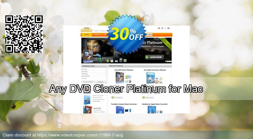 Get 30% OFF Any DVD Cloner Platinum for Mac offer