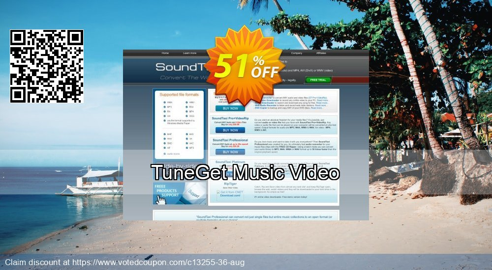 Get 51% OFF TuneGet Music Video offering sales