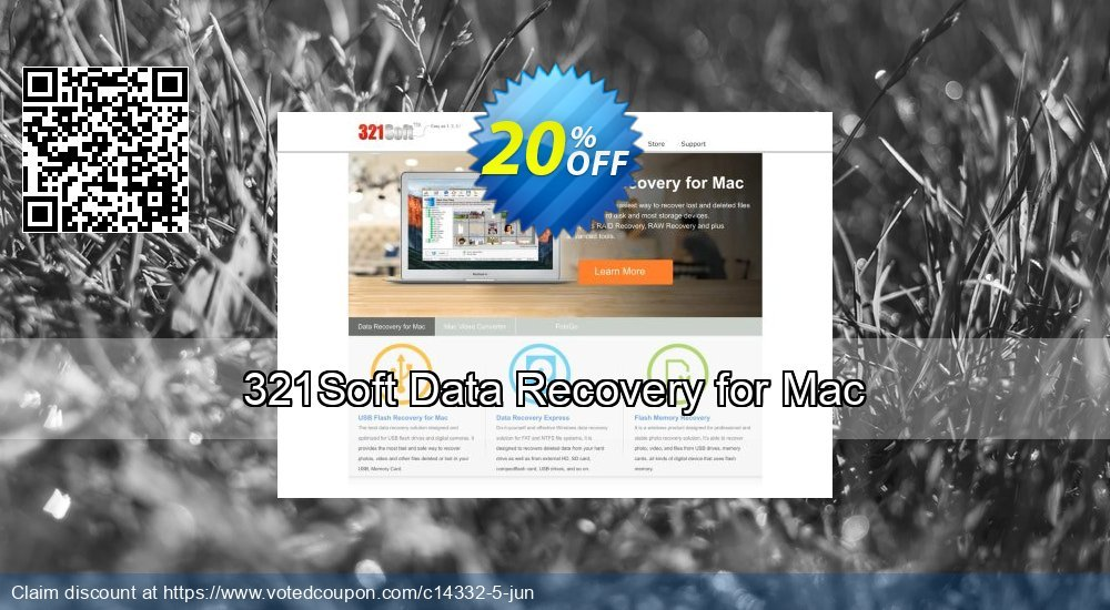 Get 20% OFF 321Soft Data Recovery for Mac Coupon