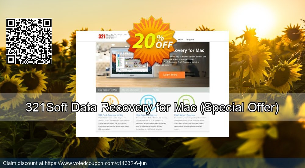 Get 20% OFF 321Soft Data Recovery for Mac (Special Offer) Coupon