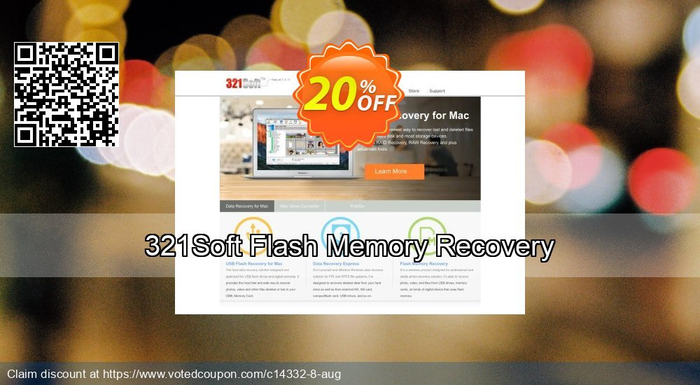 Get 21% OFF 321Soft Flash Memory Recovery Coupon