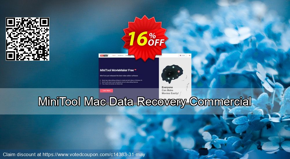 Get 20% OFF MiniTool Mac Data Recovery Coupon