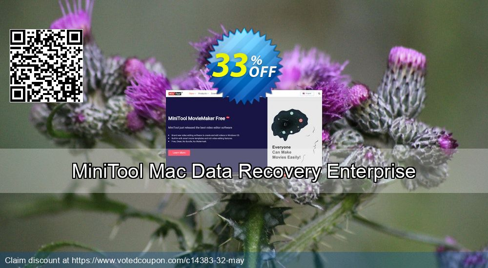 Get 33% OFF MiniTool Mac Data Recovery Enterprise Coupon