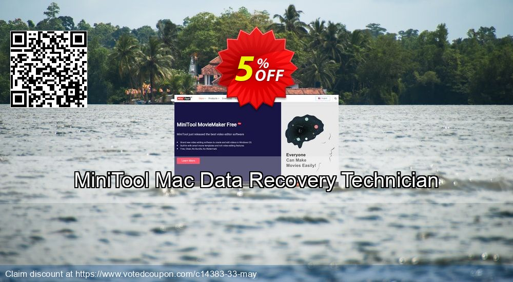 Get 5% OFF MiniTool Mac Data Recovery Technician Coupon