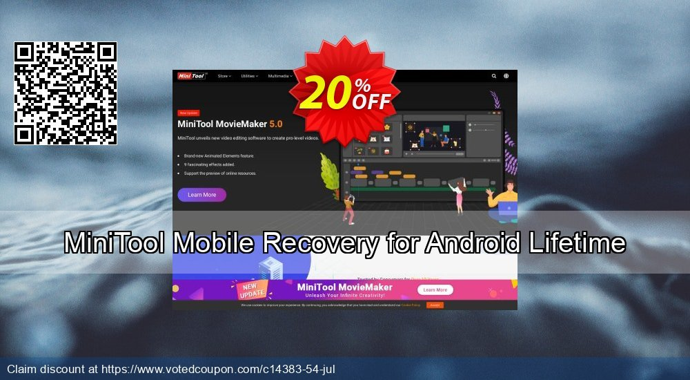 Get 20% OFF MiniTool Mobile Recovery for Android Lifetime Coupon