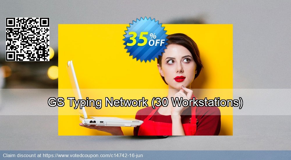 Get 35% OFF GS Typing Network (30 Workstations) offering sales