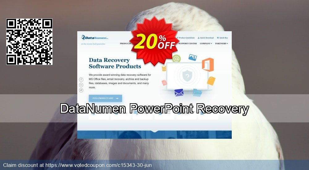 Get 20% OFF DataNumen PowerPoint Recovery Coupon