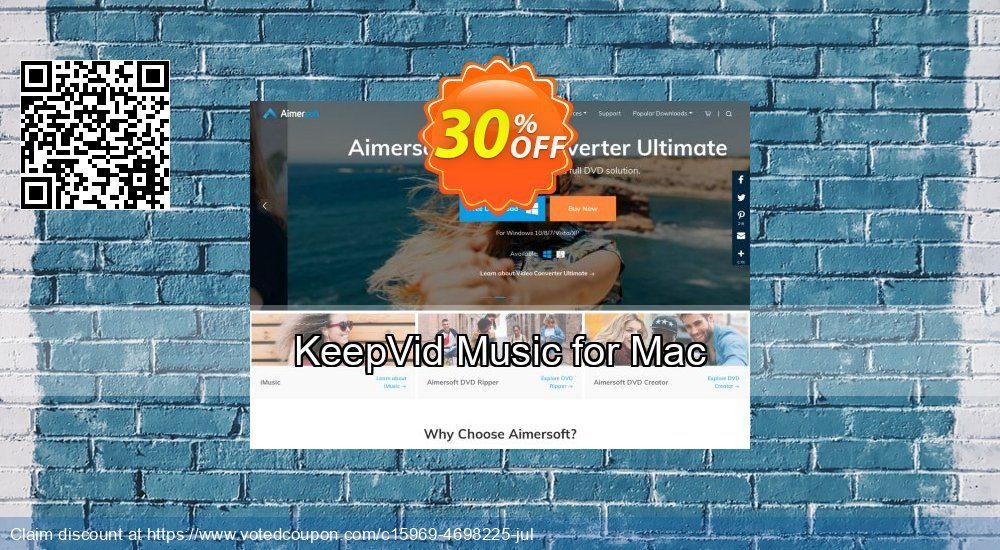 Get 30% OFF KeepVid Music for Mac promo