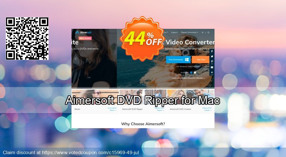 Get 44% OFF Aimersoft DVD Ripper for Mac discounts