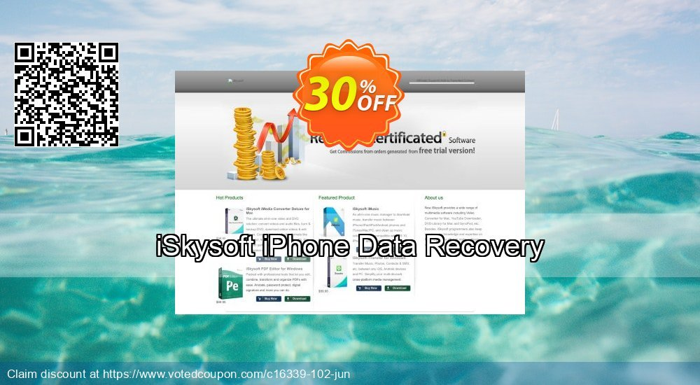 Get 30% OFF iSkysoft iPhone Data Recovery Coupon