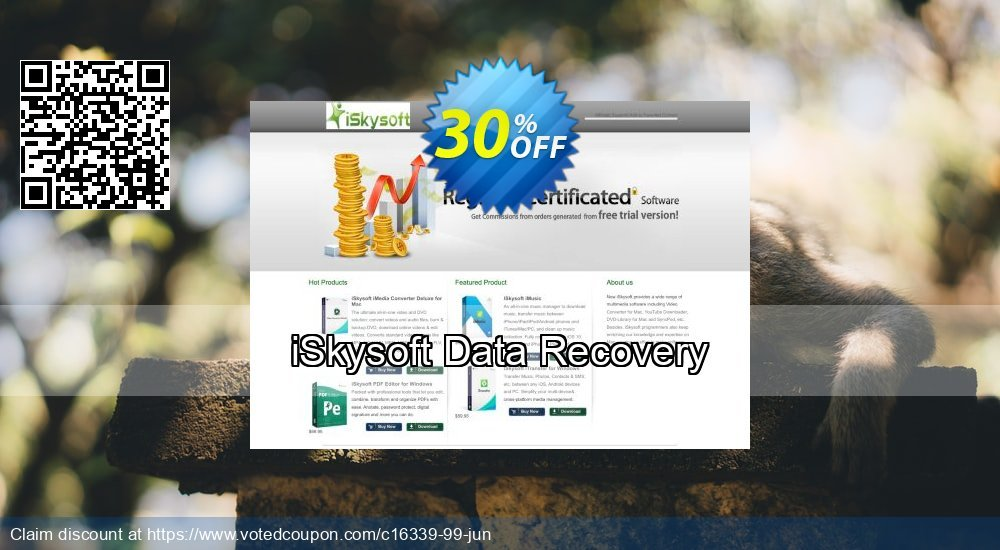Get 20% OFF iSkysoft Data Recovery Coupon