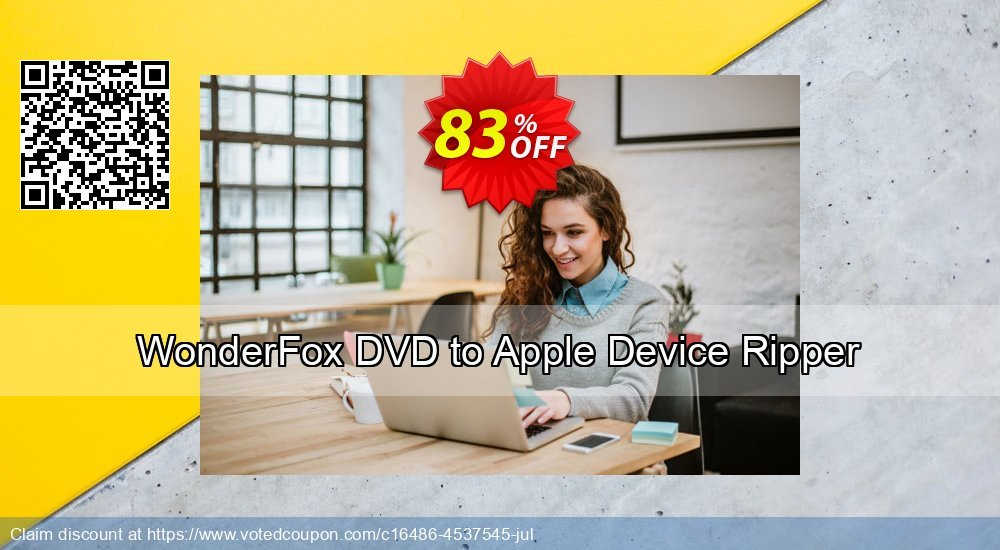 Get 71% OFF WonderFox DVD to Apple Device Ripper offering sales