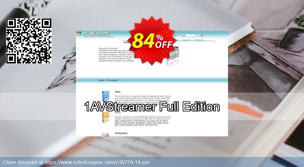 Get 84% OFF 1AVStreamer Full Edition offering sales
