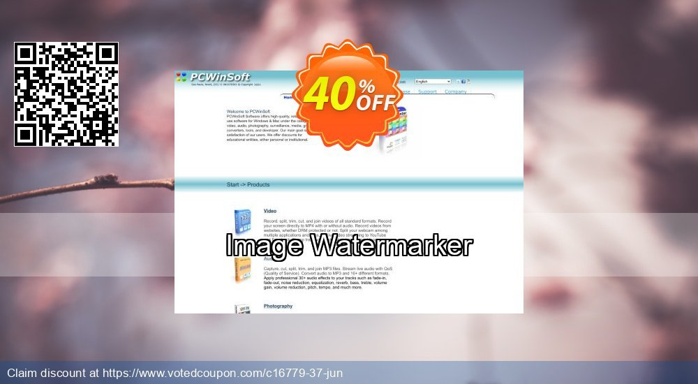Get 40% OFF Image Watermarker offering sales