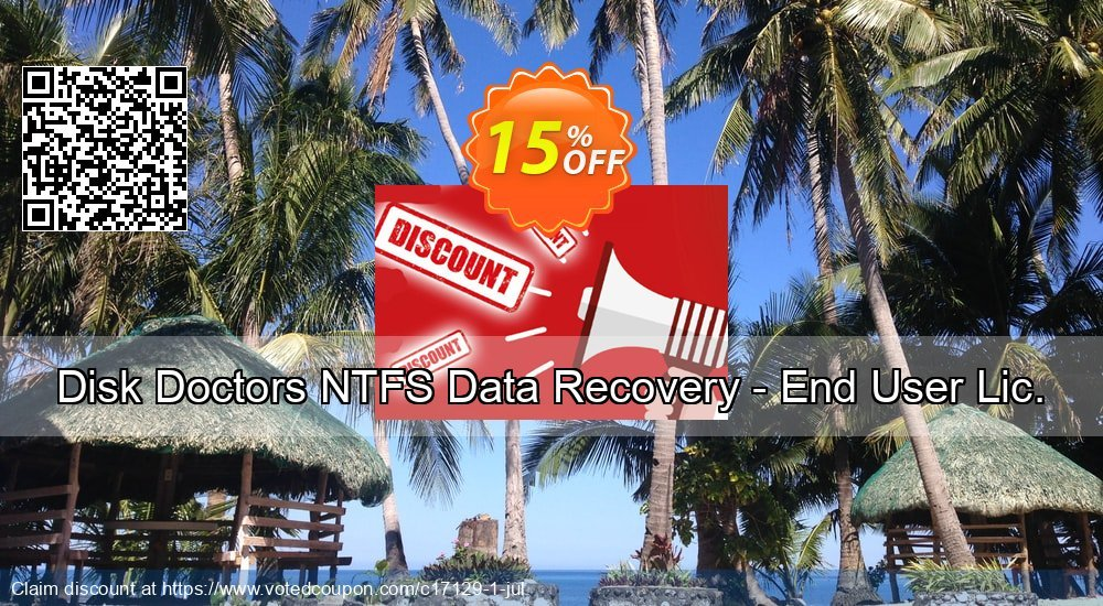 Get 15% OFF Disk Doctors NTFS Data Recovery - End User Lic. Coupon