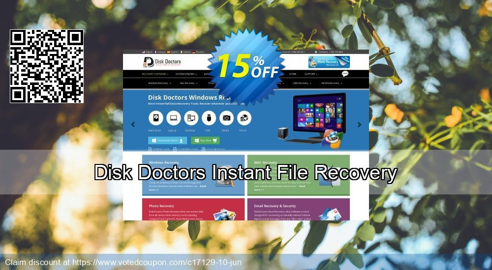Get 15% OFF Disk Doctors Instant File Recovery Coupon