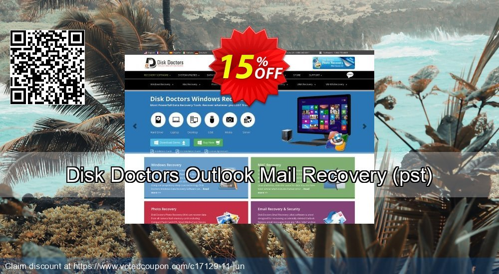 Get 15% OFF Disk Doctors Outlook Mail Recovery (pst) Coupon