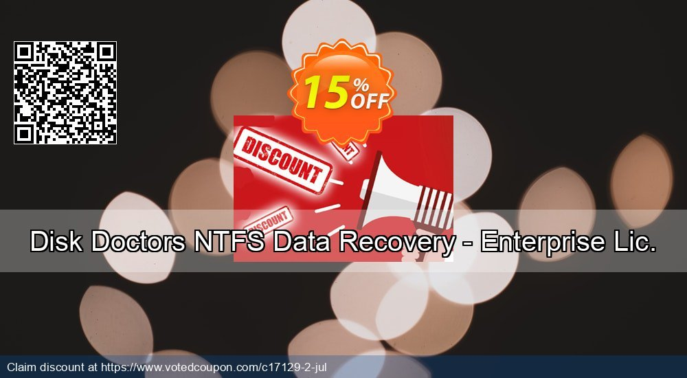 Get 15% OFF Disk Doctors NTFS Data Recovery - Enterprise Lic. Coupon
