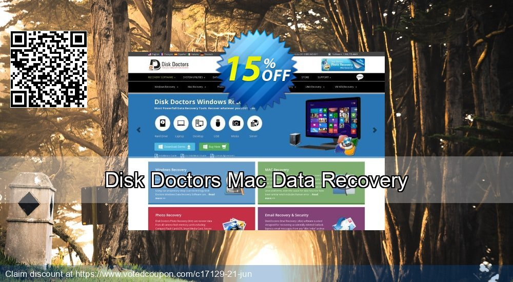 Get 15% OFF Disk Doctors Mac Data Recovery discounts