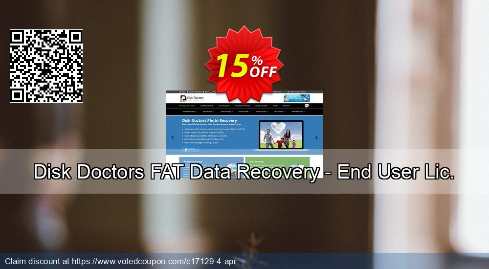 Get 15% OFF Disk Doctors FAT Data Recovery - End User Lic. Coupon