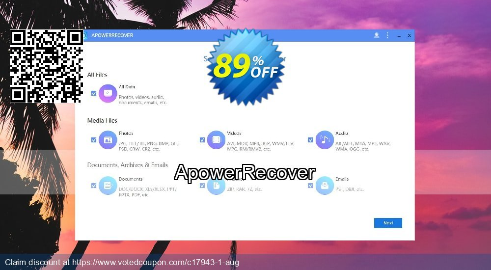 Get 91% OFF ApowerRecover Coupon