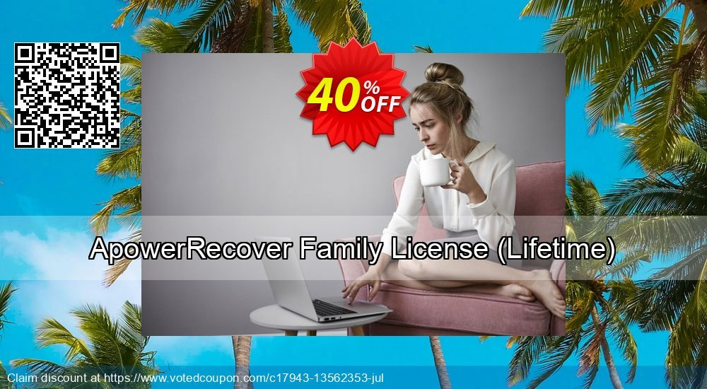 Get 40% OFF ApowerRecover Family License, Lifetime Coupon