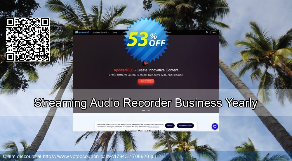 Get 53% OFF Streaming Audio Recorder Business Yearly offering sales