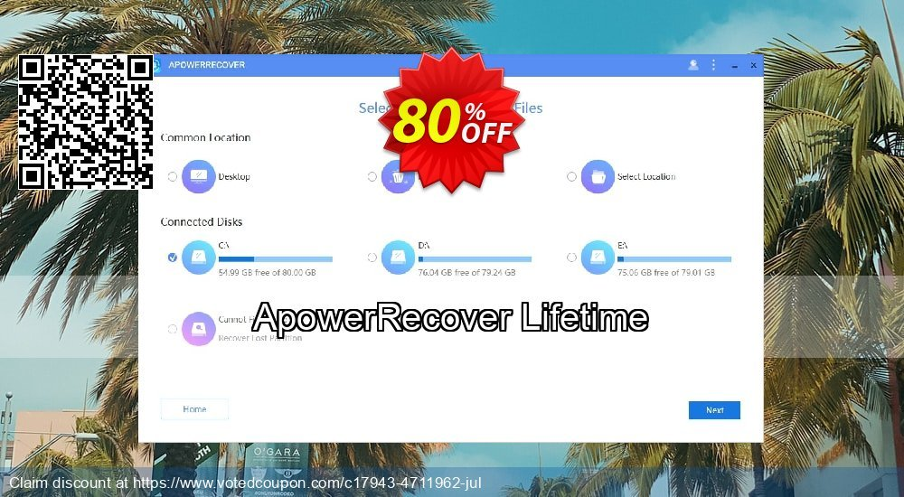 Get 80% OFF ApowerRecover Lifetime Coupon