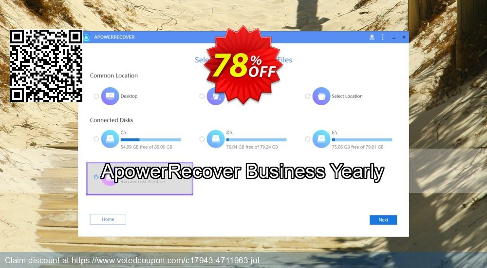 Get 53% OFF ApowerRecover Business Yearly Coupon