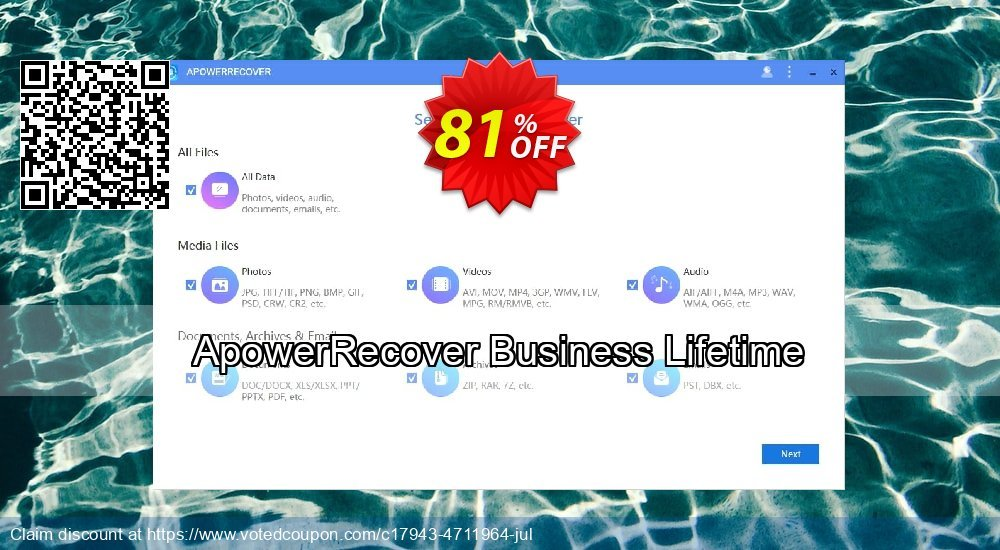 Get 57% OFF ApowerRecover Business Lifetime Coupon