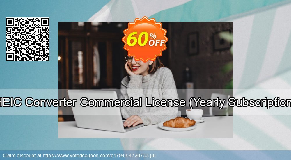Get 30% OFF HEIC Converter Commercial License (Yearly Subscription) offering sales