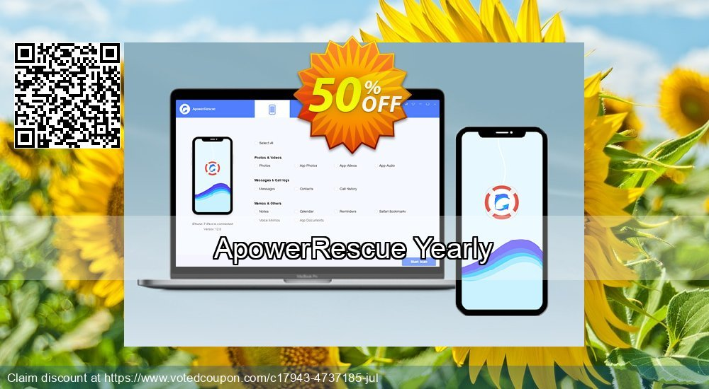 Get 46% OFF ApowerRescue Yearly Coupon
