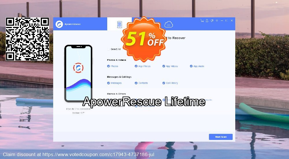 Get 48% OFF ApowerRescue Lifetime Coupon