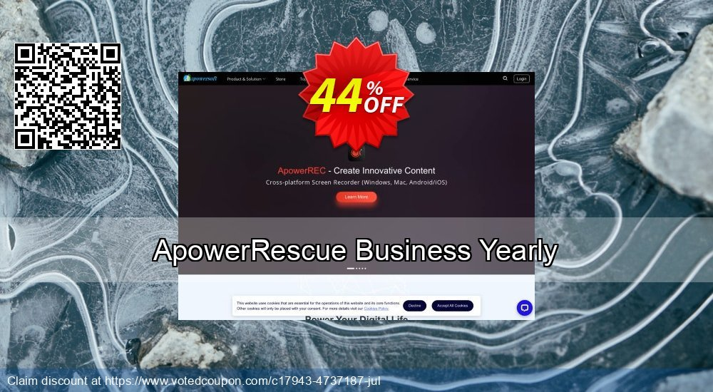 Get 40% OFF ApowerRescue Business Yearly Coupon
