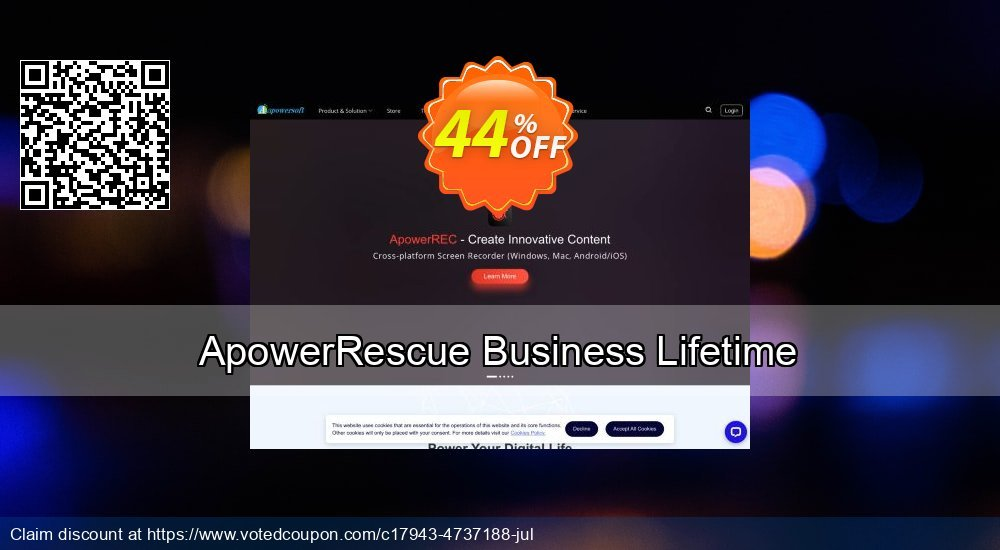 Get 40% OFF ApowerRescue Business Lifetime Coupon