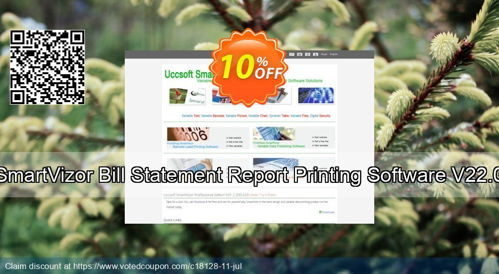 Get 10% OFF SmartVizor Bill Statement Report Printing Software V22.0 promo sales