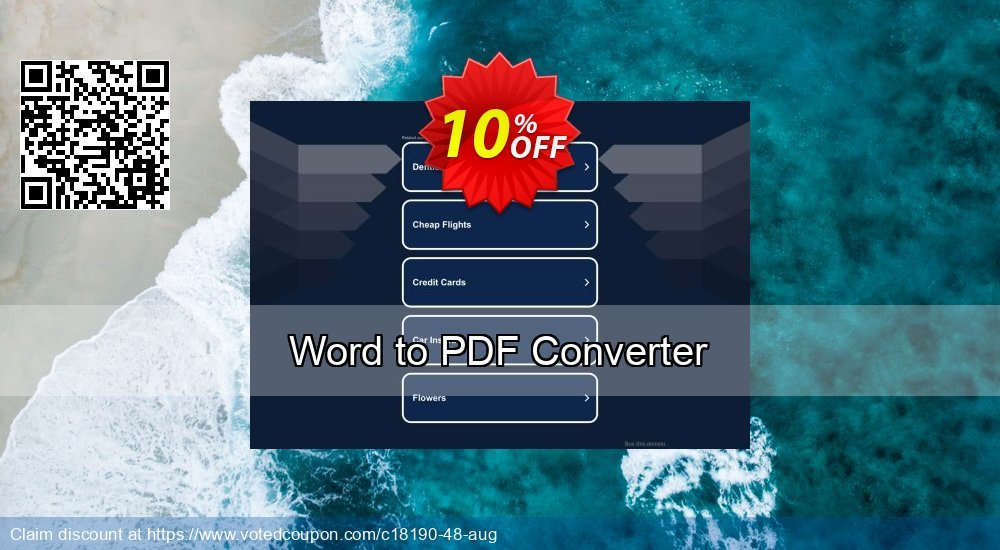 Get 10% OFF Word to PDF Converter offering sales