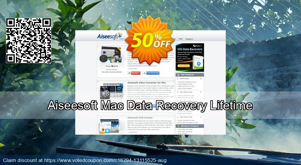 Get 51% OFF Aiseesoft Mac Data Recovery Lifetime Coupon