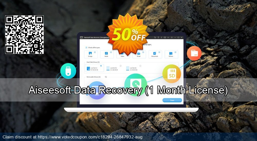 Get 53% OFF Aiseesoft Data Recovery, 1 Month License Coupon