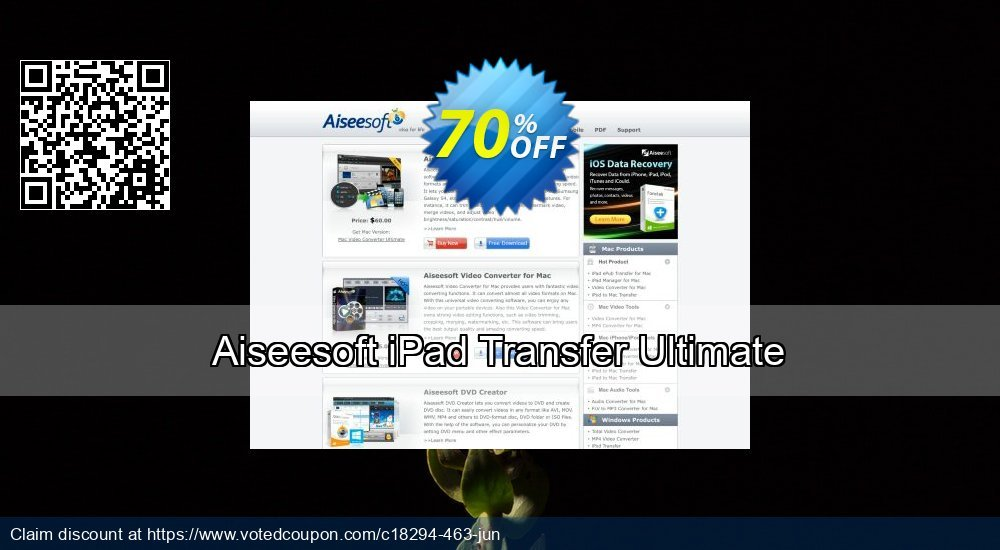 Get 40% OFF Aiseesoft iPad Transfer Ultimate offering sales