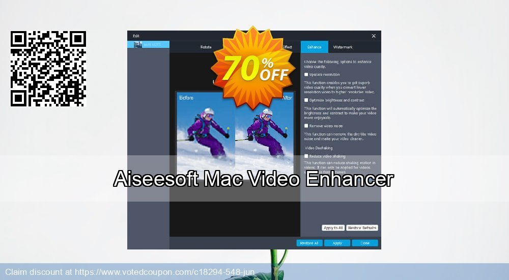 40% OFF Aiseesoft Mac Video Enhancer Coupon code on Exclusive Student  offer, September 2019