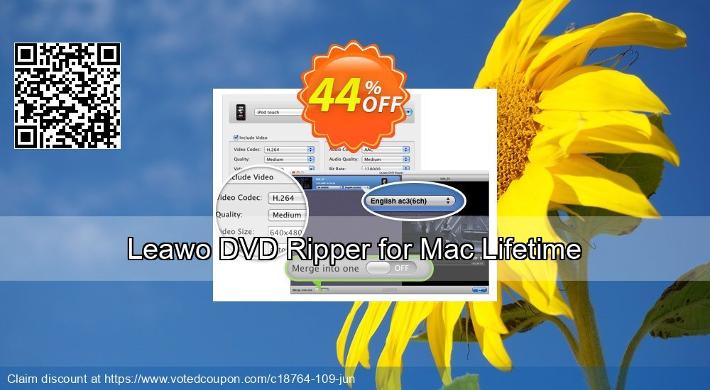 Get 44% OFF Leawo DVD Ripper for Mac Lifetime offering sales