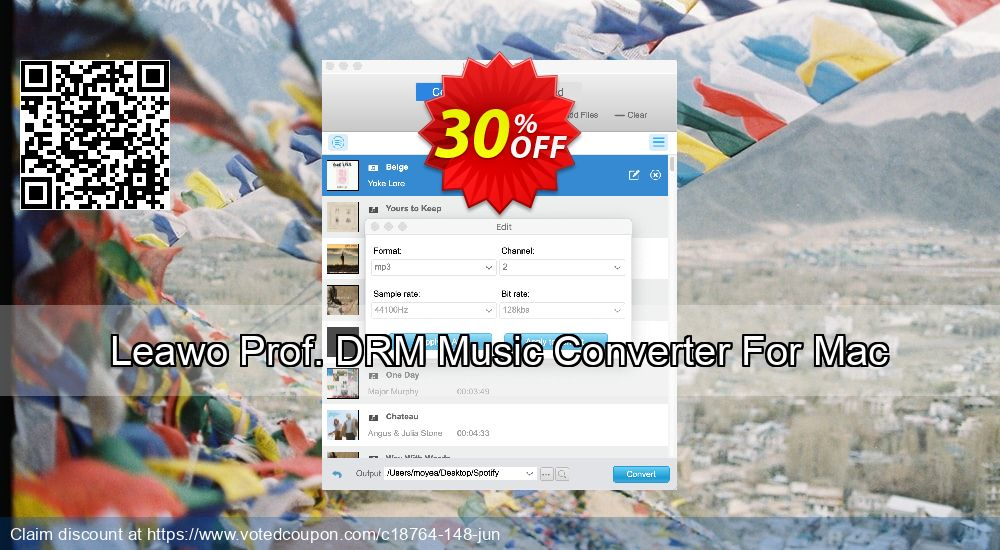 Get 30% OFF Leawo Prof. DRM Music Converter For Mac promotions