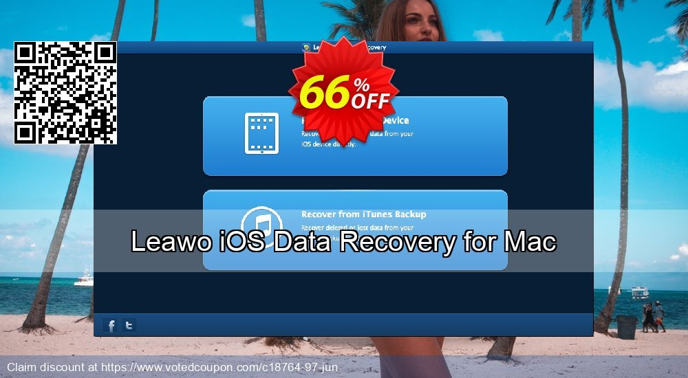 Get 66% OFF Leawo iOS Data Recovery for Mac offering deals