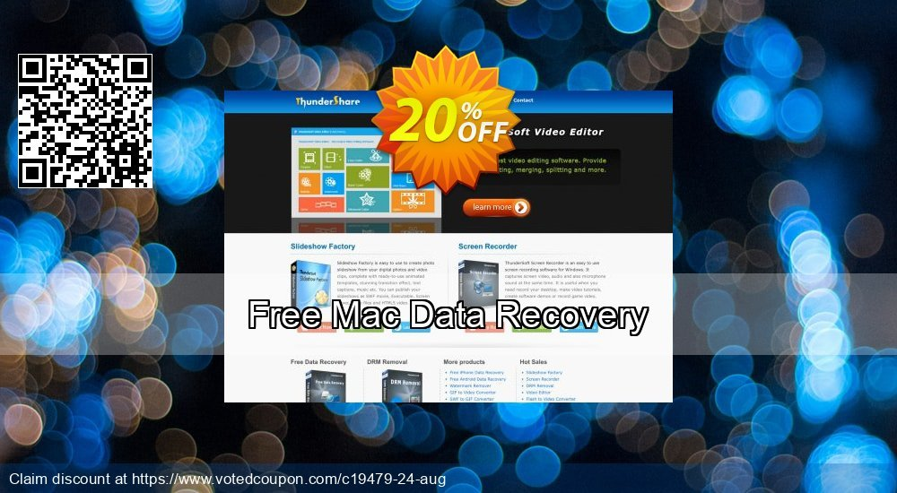 Get 21% OFF Free Mac Data Recovery Coupon
