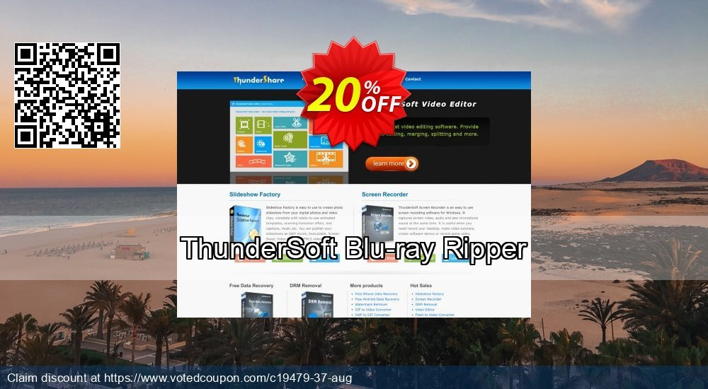 Get 20% OFF ThunderSoft Blu-ray Ripper promo sales