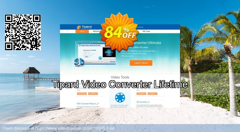 84% OFF Tipard Video Converter Lifetime License Coupon code on Back to  School discount, September 2019