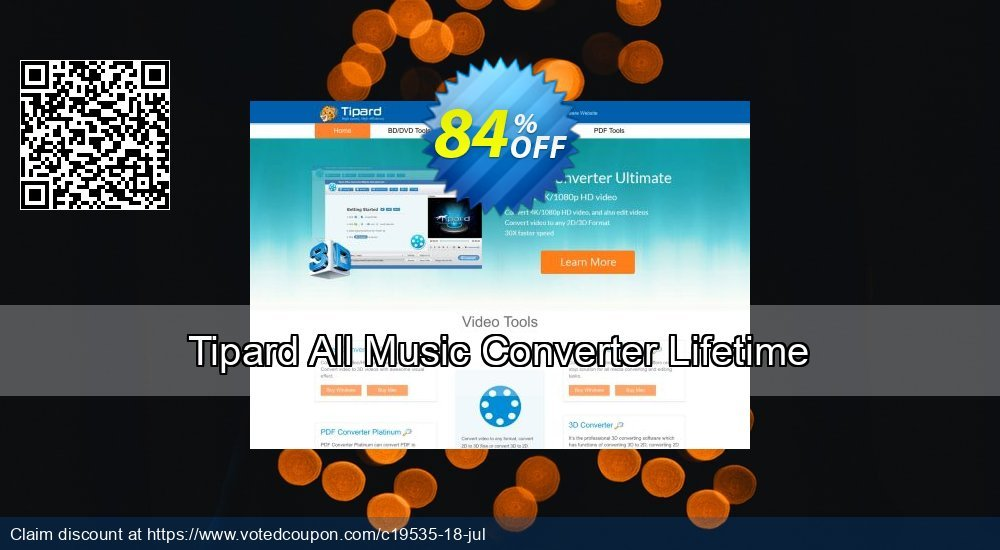 Get 84% OFF Tipard All Music Converter Lifetime License discount