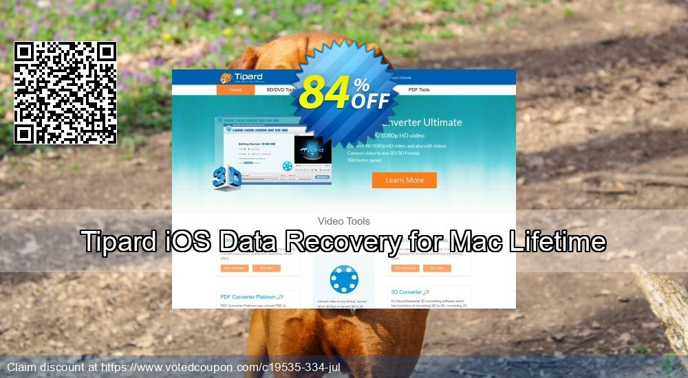 Get 40% OFF Tipard iOS Data Recovery for Mac Lifetime License Coupon